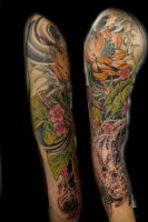 Derek Dufresne- white koi sleeve by DerekDufresne