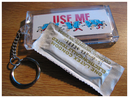 cover up, condoms save lives by LaughingSquid