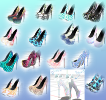 [MMD] High Heels - Lots of colors DLL by DeidaraChanHeart