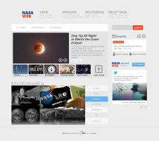 NASA like Website Design Freebie by UJz