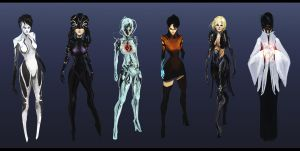 Female Hacker Roughs by ConceptualMachina
