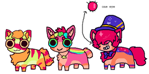 Totally Rad Adopts by kittyunlverse