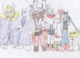 Undertale (colored) by HyperCloudStrife