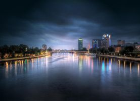 City Lights Frankfurt by mflow