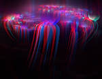 Astral entities Anaglyph 3D Stereoscopy by Osipenkov