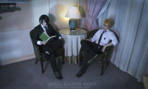 Soul Eater NOT! - Akane and Clay by KURA-rin
