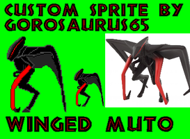 Custom Winged Muto Sprite by Gorosaurus65