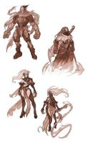 Darksiders All Four HoresMen by CorruptedDeath