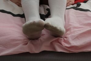Female Socked Feet 1 by TobyMcDee