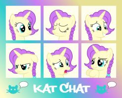 MLP OC- Kat Chat expressions by Fluffation