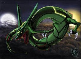 649 Monsters - Rayquaza by Mocattu