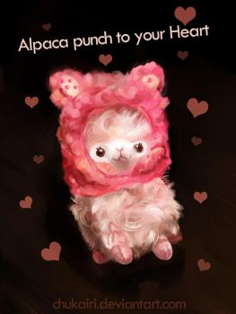 Alpaca you some pink by Morigalaxy