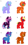 MLP cheap adopts by Firegirl1015