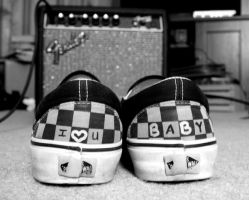 I Heart You Baby- Vans by rememberthename