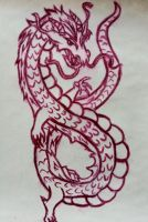 Dragon Drypoint Etching by CuriouslyXinlove