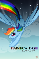 Rainbow Dash: Fly to the sky by norang94