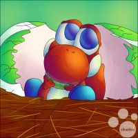 Baby Yoshi by SunScales