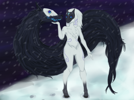 Kindred - LoL Secret Santa 2015 by Pollo-Pillo