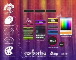 Exeleptika  - skin for Rainmeter by allkhor