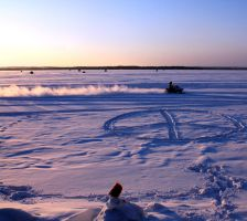 Peace Snowmobile Flower Sunset by KeswickPinhead