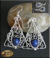Shining blue- earring by mea00