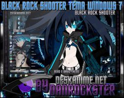 Black Rock Shooter Theme Windows 7 by Danrockster