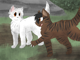 Whitekit and Tigerkit by CascadingSerenity