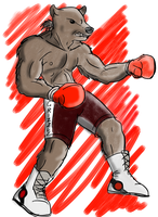 Bear Boxer by UberMan5000