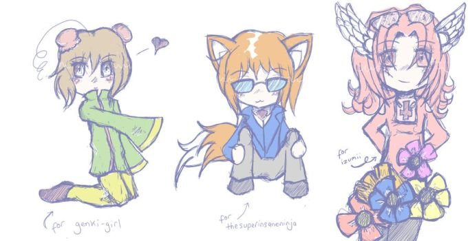 More chibi request prizes by blank-canvas