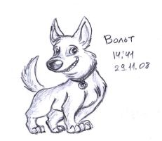 Bolt first sketch by Lilostitchfan