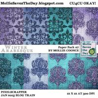 Winter Arabesque Paper Pack 7 by Mollie-Coonce