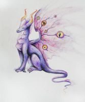 Purple dragon by Elunian