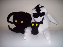 Heartless and Dusk Plush by evilitachi
