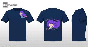 Mythical Creatures Contest Mermaid in Navy by HollyAReid