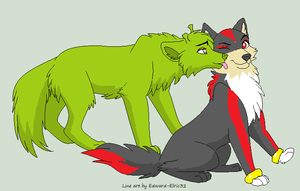 shadow and shrek wolf forms by kawaiidolphinchan