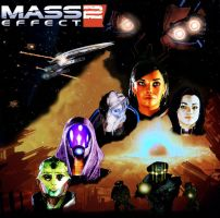 Mass Effect 2 poster-review by JosephB222