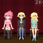 ANIMATION Girls at Sexy Stage Hypnosis Show by Lewd-Zko
