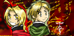Golden Eyes- Elric Brothers by Sakura-Star