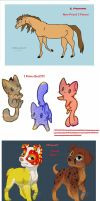 Adoptables BLOWOUT SALE!!!! by Julia-adopts