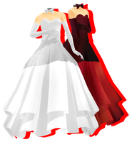 MMD Gown DL by Demorot