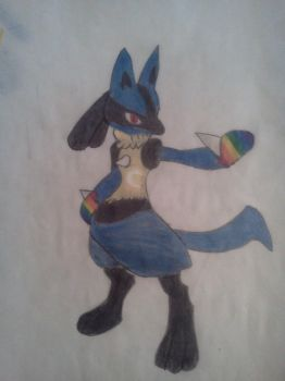 Lucario by HippieStoner1