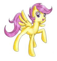 My First Pony Paintings: Scootaloo by DANMAKUMAN