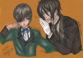 Ciel Phantomhive and Sebastian Michaelis by MeRryX3108