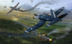 Dogfight by Simon Buckroyd by Binoched
