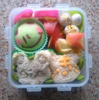 Sandwich And Froggy Bento by TakenFlyght