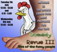 Comedy Revue Poster by CheeseWarrior