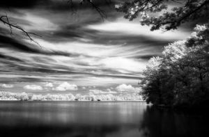 A view from Stilec Pond by edinek