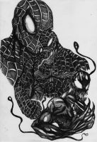 spiderman venom and carnage by darkartistdomain