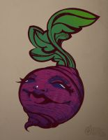 Beet Print by draweverywhere