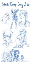 Sketch Dump July 2010 by catiniata